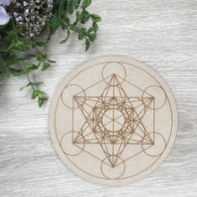 Load image into Gallery viewer, Metatron's Cube Crystal Grid Board - Gina's Charms