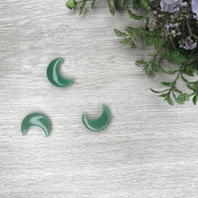 Load image into Gallery viewer, Crescent Moon - Green Aventurine - Gina's Charms