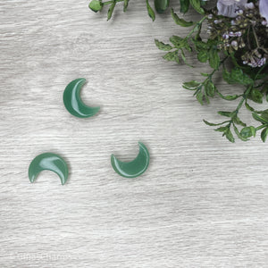 Crescent Moon - Green Aventurine - Gina's Charms