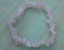 Load image into Gallery viewer, Rose Quartz Gemstone Chips Bracelet - Gina's Charms