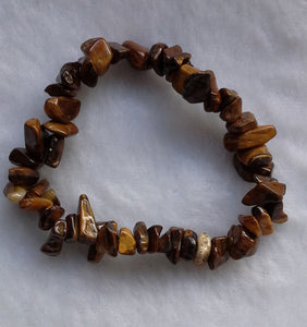 Tiger Eye Gemstone Chips Bracelet - Gina's Charms