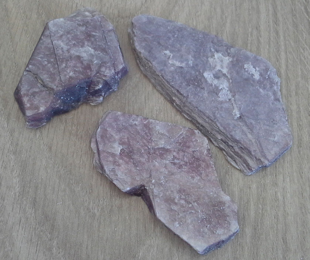 Crystal - Rough Slices - Lepidolite - Size2