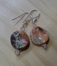 Load image into Gallery viewer, Gemstone Swirl Earrings with Swarovski Crystals