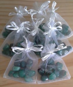Bag of Gemstone Tumbles - Green Agate