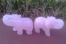 Load image into Gallery viewer, Crystal Elephant Carving - Rose Quartz - Small #2