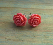 Load image into Gallery viewer, Sterling Silver Resin Rose - Large Studs Range