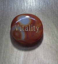 Load image into Gallery viewer, Crystal - Wordstone - VITALITY - Carnelian