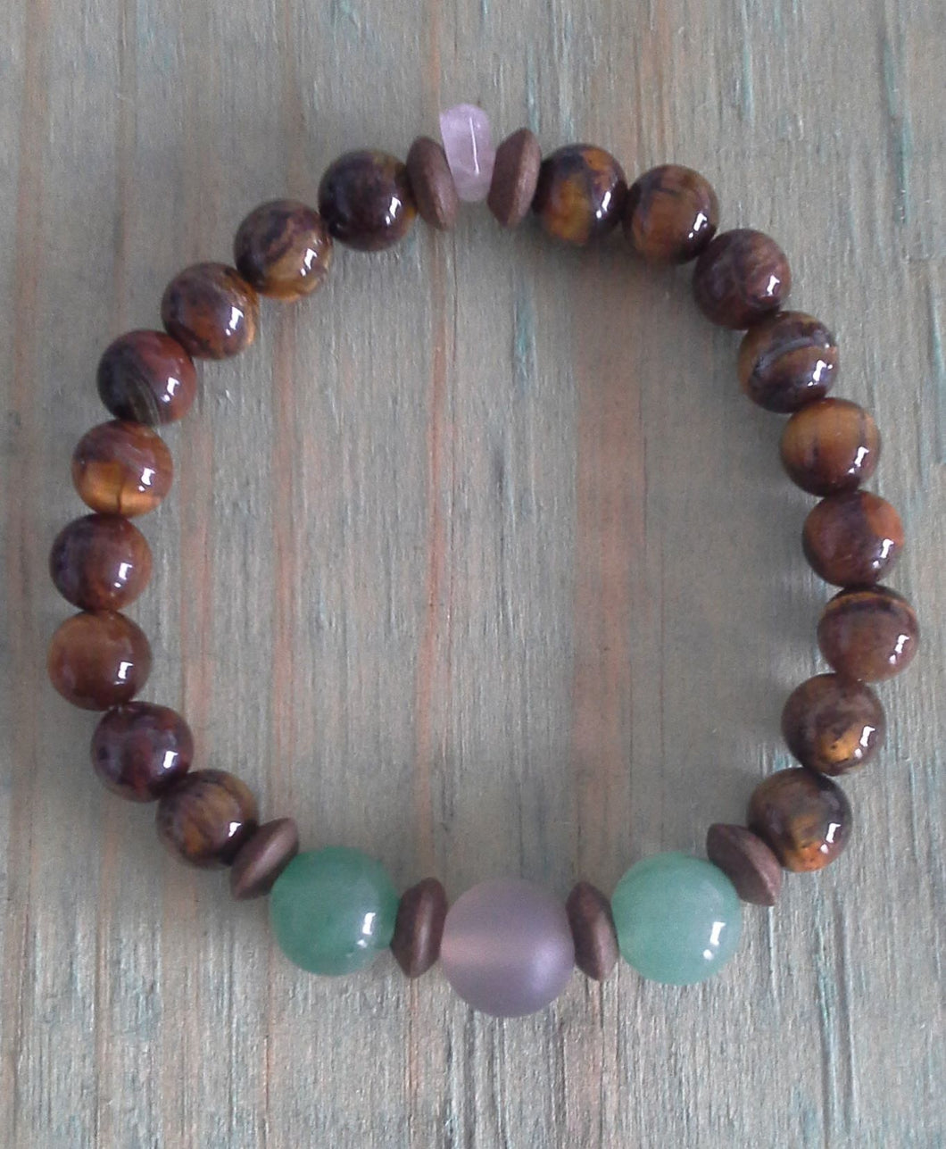 Kid's Tiger Eye Protection Bracelet - Gina's Charms