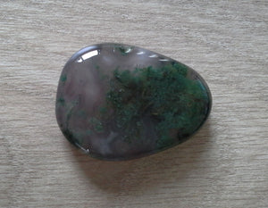 Crystal - Flat Palmstones - Moss Agate S3