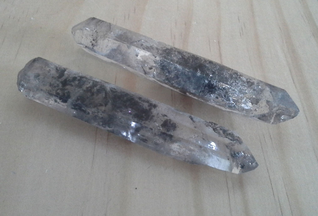 Crystal Generator Points - Black Rutilated Quartz #252