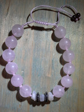 Load image into Gallery viewer, Infinity Rose Quartz Adjustable Bracelet with Hematite & Moonstone