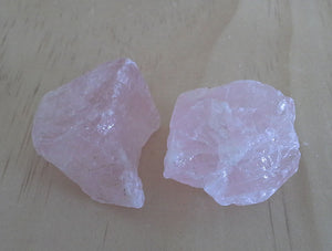 Crystal - Rough Chunks - Rose Quartz S1