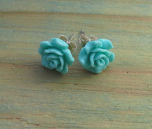 Load image into Gallery viewer, Sterling Silver Resin Rose - Small Studs Range