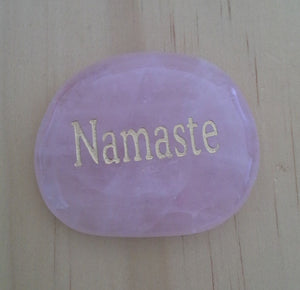 Crystal - Wordstone - NAMASTE - Rose Quartz