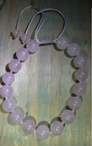Infinity Rose Quartz Adjustable Bracelet - Gina's Charms