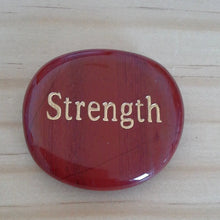 Load image into Gallery viewer, Crystal - Wordstone - STRENGTH - Red Jasper