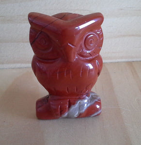 Crystal OWL Carving - Red Jasper #320 - incomplete