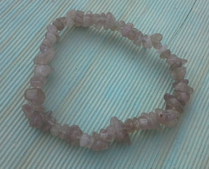 Strawberry Quartz Gemstone Chips Bracelet