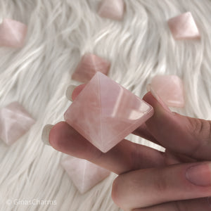 Rose Quartz Pyramid - Gina's Charms