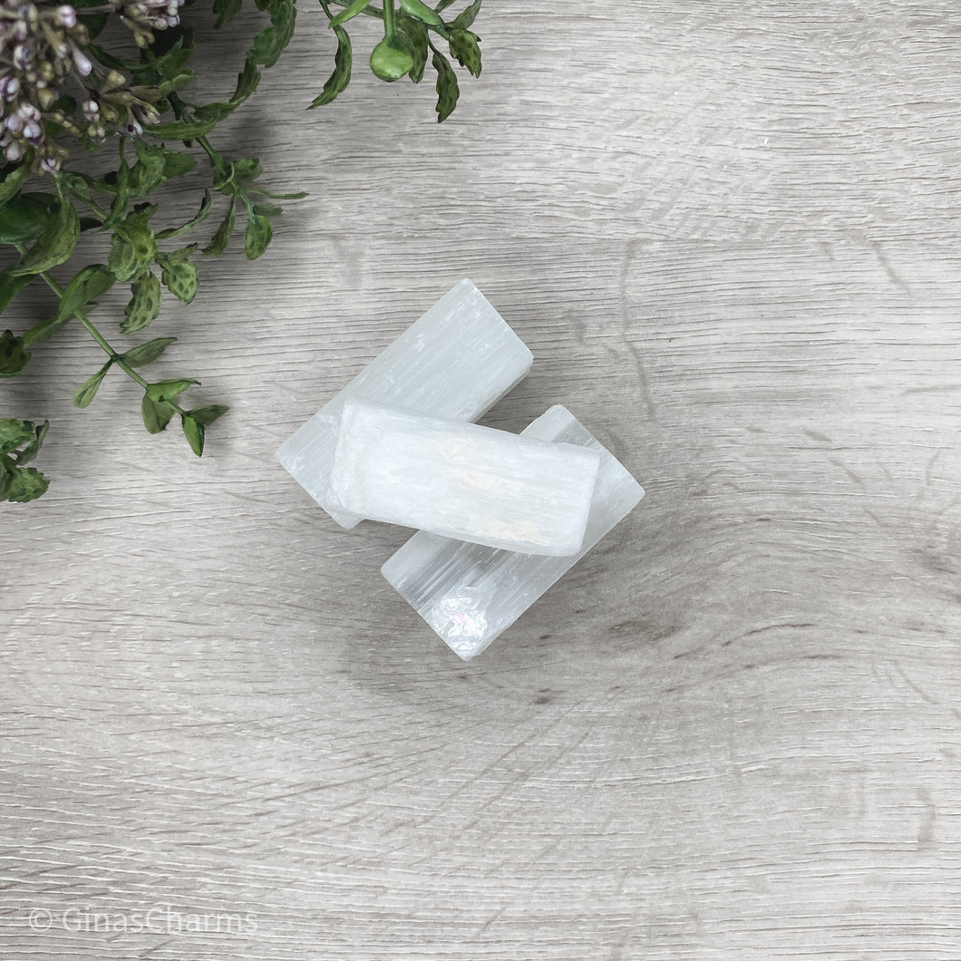 Selenite Chunk Sticks - Gina's Charms