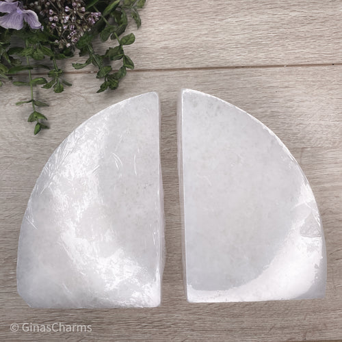 Large Selenite Bookends - Gina's Charms