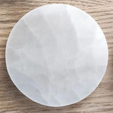 Load image into Gallery viewer, Selenite Charging Plate - Full Moon
