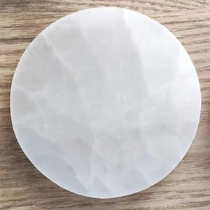 Selenite Charging Plate - Full Moon - Gina's Charms