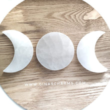 Load image into Gallery viewer, Selenite Charging Plate - Full Moon - Gina's Charms