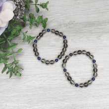 Load image into Gallery viewer, Smoky Quartz & Lapis Lazuli Beaded Bracelet - Gina's Charms