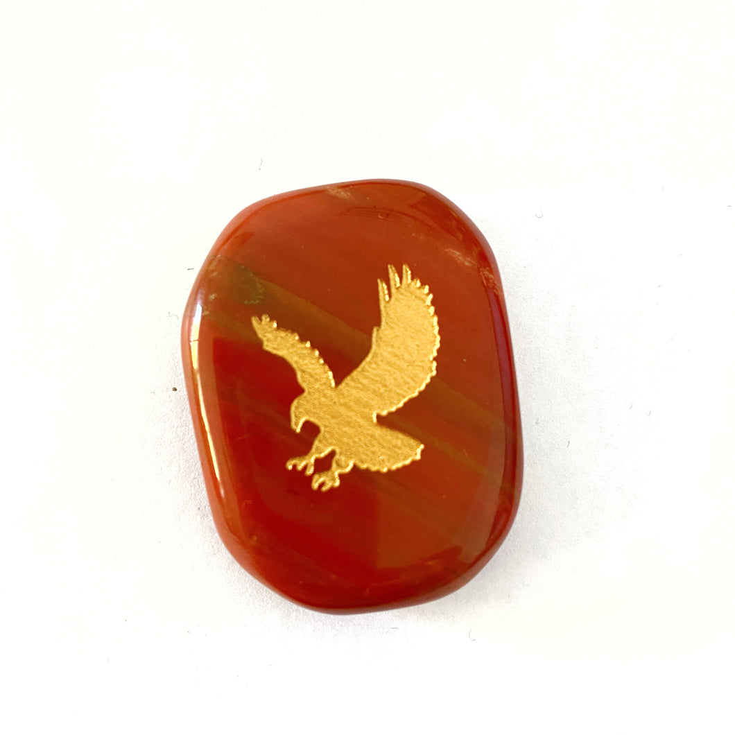 Totem Animal Palmstone - Eagle - Red Jasper