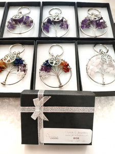Gift Box - Amethyst Tree of Life Keychain