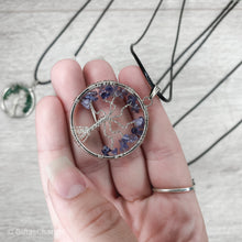 Load image into Gallery viewer, Iolite Tree of Life Pendant Necklace - Gina's Charms