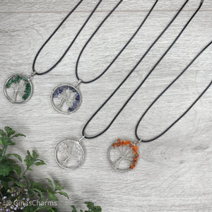 Iolite Tree of Life Pendant Necklace - Gina's Charms