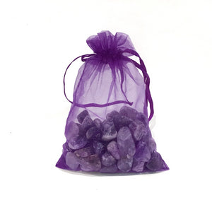 Bag of Amethyst Tumbles for Crystal Water Bottle