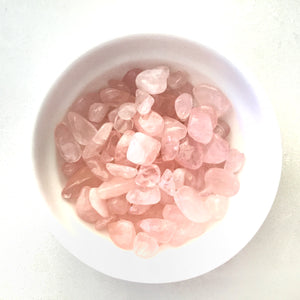 Bag of Rose Quartz Tumbles for Crystal Water Bottle