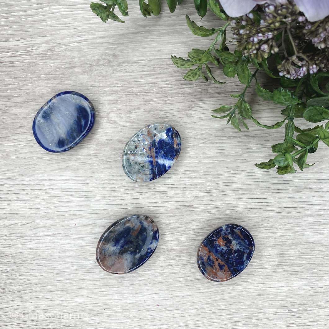 Sunset Sodalite Worry Stone - Gina's Charms