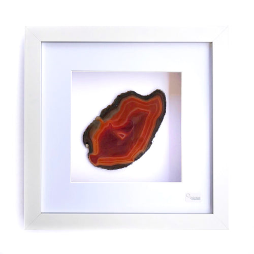 Framed Agate - Orange Brown #20
