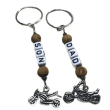 Load image into Gallery viewer, Dad & Son Keychain Gift Set - Motorbikes