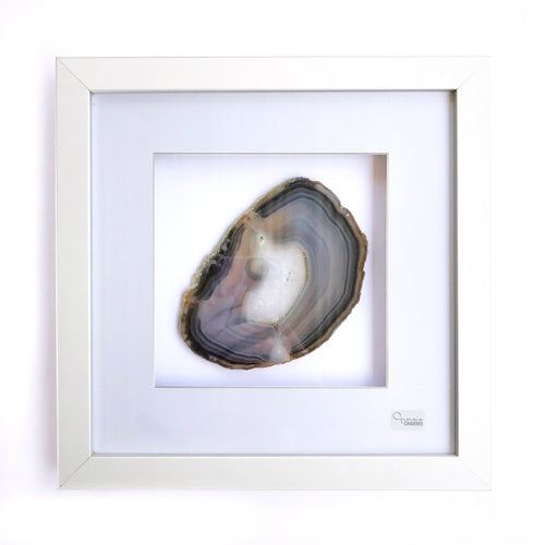 Framed Agate - Grey #13 - Gina's Charms
