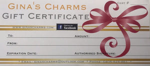 $50 Gift Certificate - Gina's Charms