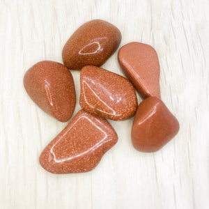 Tumbled Gemstones - Red Goldstone