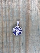 Load image into Gallery viewer, Intertwined Tree of Life Pendant - Lapis Lazuli Sterling Silver Small