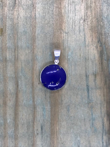 Intertwined Tree of Life Pendant - Lapis Lazuli Sterling Silver Small