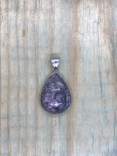 Load image into Gallery viewer, Teardrop Pendant - Charoite - Medium
