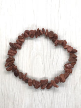 Load image into Gallery viewer, Red Goldstone Gemstone Chips Bracelet