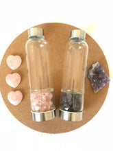 Load image into Gallery viewer, Rose Quartz Crystal Water Bottle