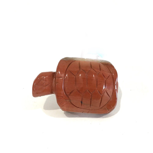Crystal Turtle Carving - Red Jasper