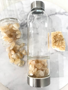 Citrine Crystal Water Bottle