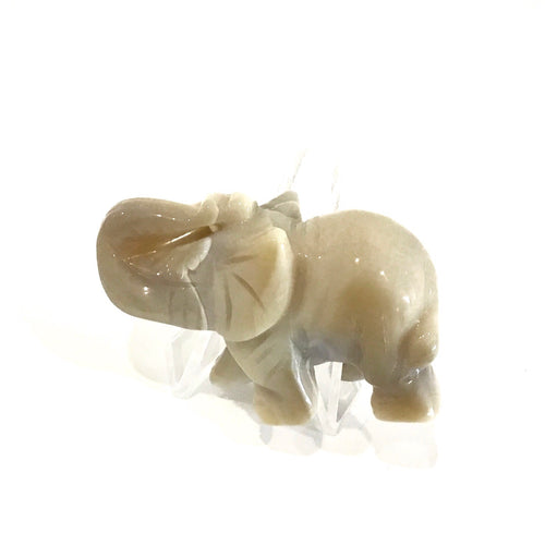 Crystal Elephant Carving - Agate - Small