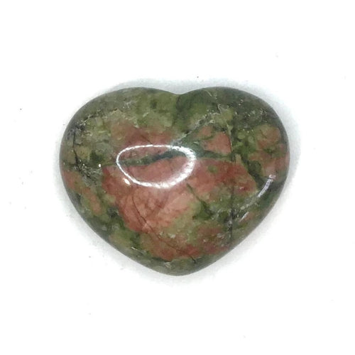 Gemstone Puff Heart - Unakite S2 - Gina's Charms